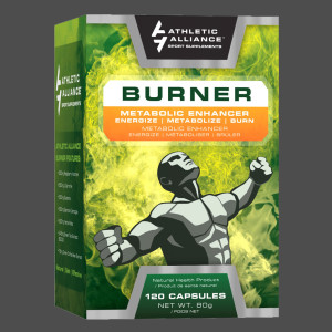 Athletic Alliance's Burner packaging, designed by Ripley Studios