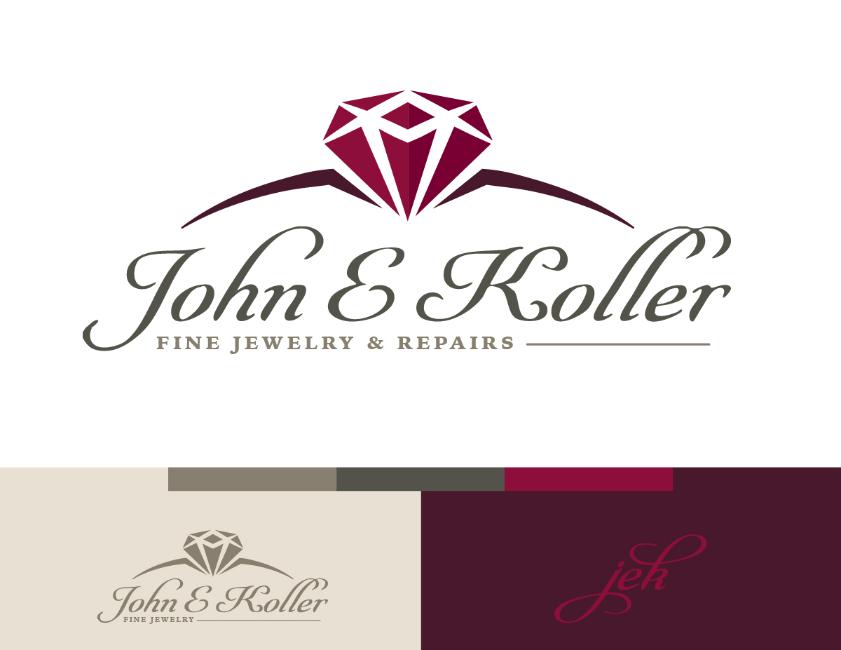 A logo Nathan Ripley designed for JEK Jewelers