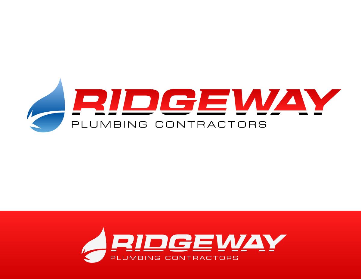 Ridgeway Plumbing logo design, created by Nathan Ripley of Ripley Studios