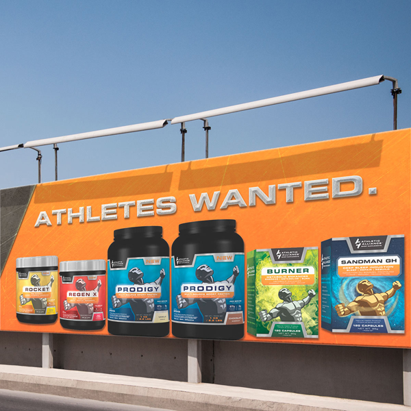 Athletic Alliance's product line, as designed by Ripley Studios
