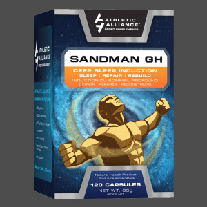 Athletic Alliance's Sandman packaging, designed by Ripley Studios