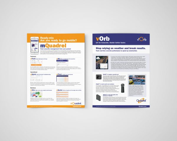 Flyers that Ripley Studios designed for Quadrel Software