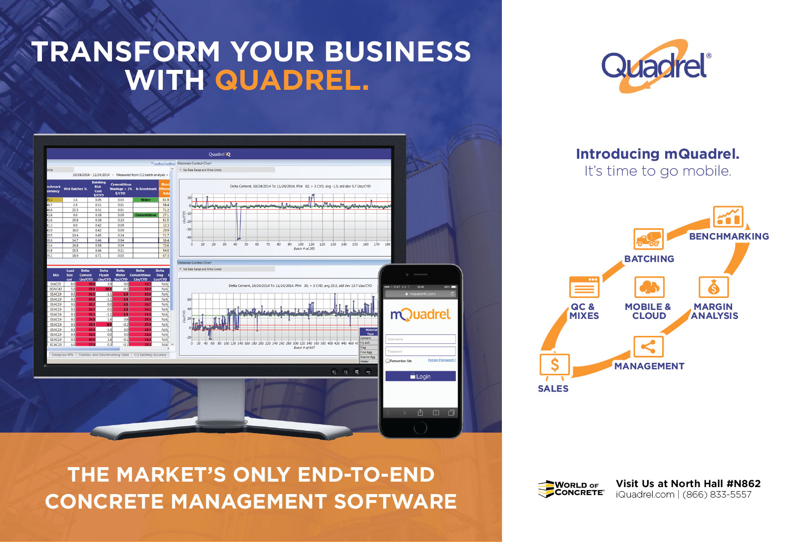 An alternate print advertisement design for Quadrel Software.