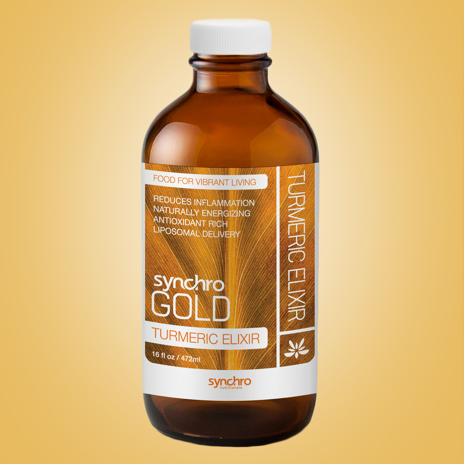 Synchro Gold Turmeric Elixir Bottle