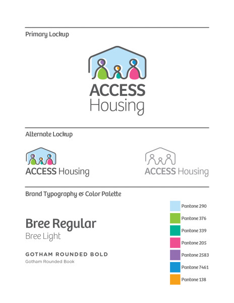Access Housing's brand identity specifications