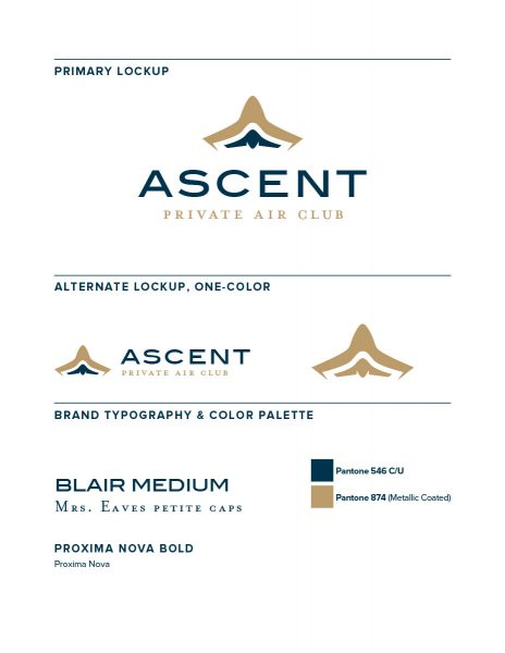 The Ascent Airlines full brand identity system