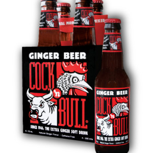 The old Cock 'n Bull label design