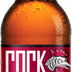 Cock 'n Bull's new Raspberry soda label design