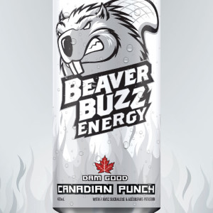 Energy drink poster design for Canadian Punch