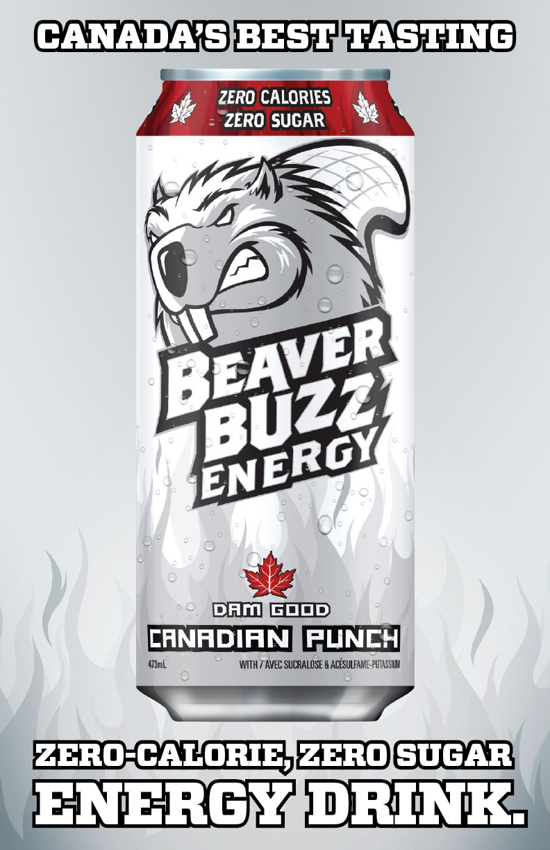 Energy Drink Design For Beaver Buzz Canadian Punch