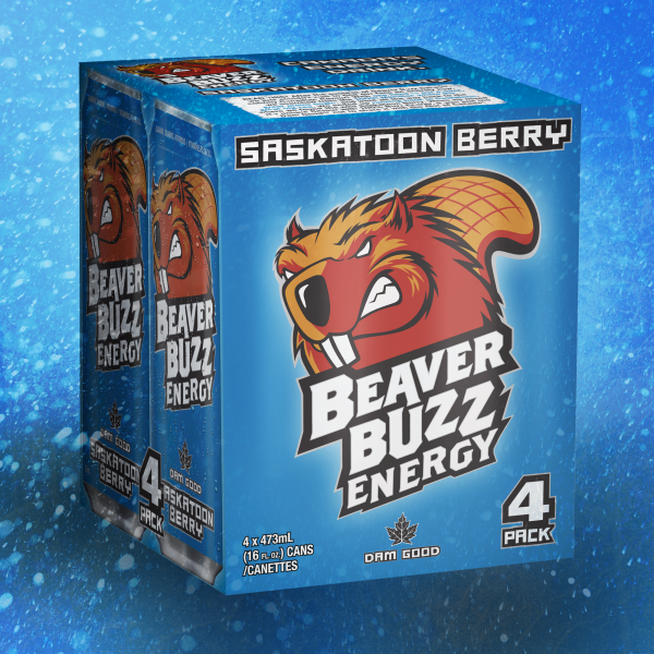 Beaver Buzz 4-pack box design