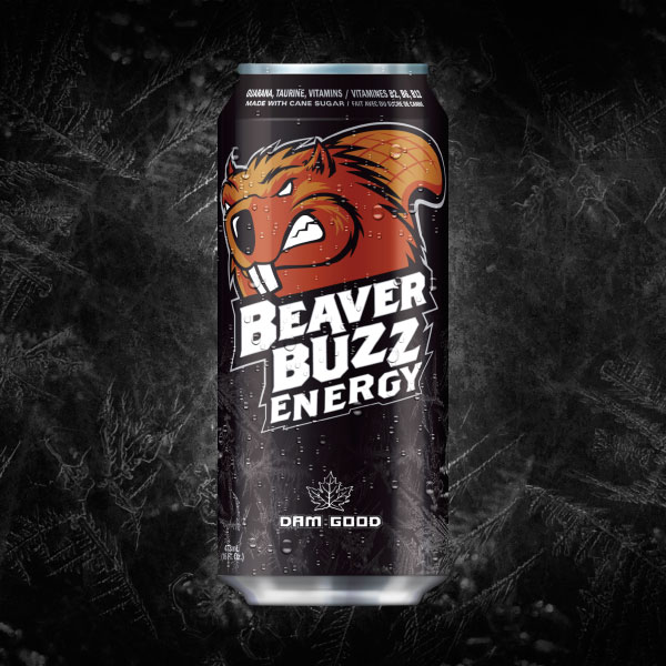 Energy Drink Branding project for Beaver Buzz Energy, Canada's Energy Drink!
