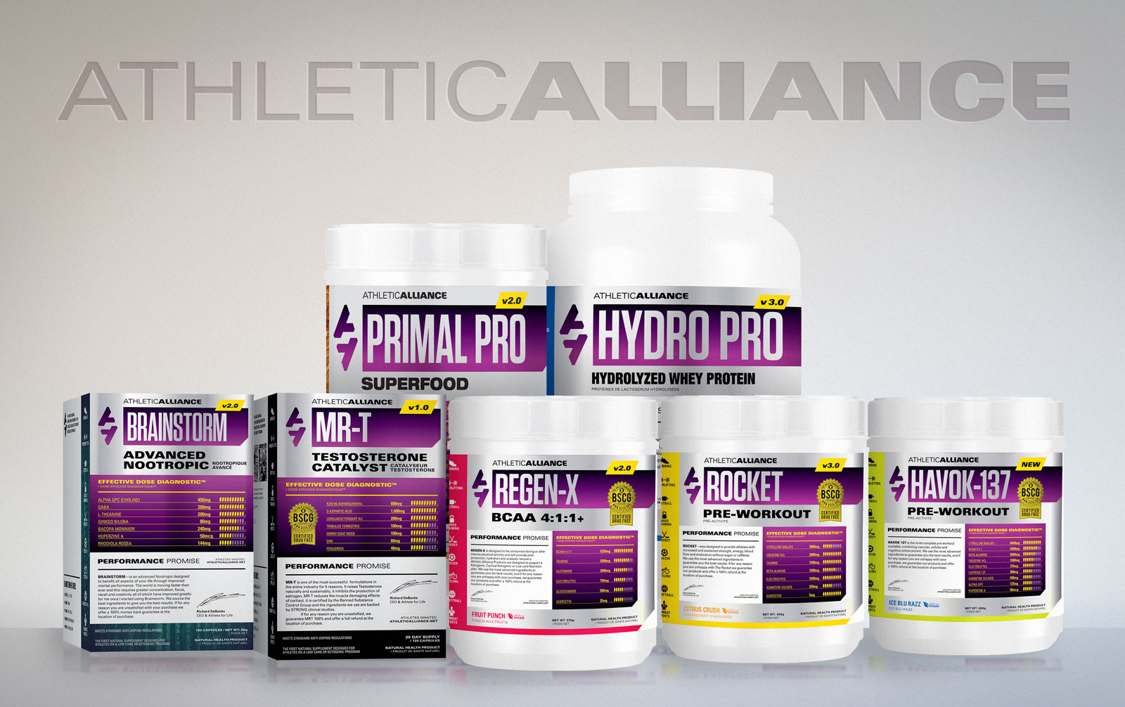 Athletic Alliance Sports Supplement Family
