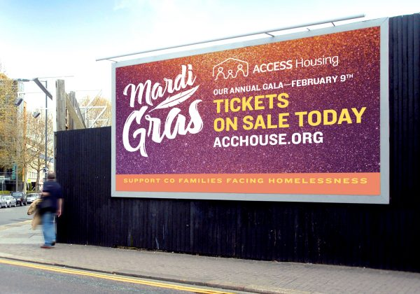 Access Housing billboard