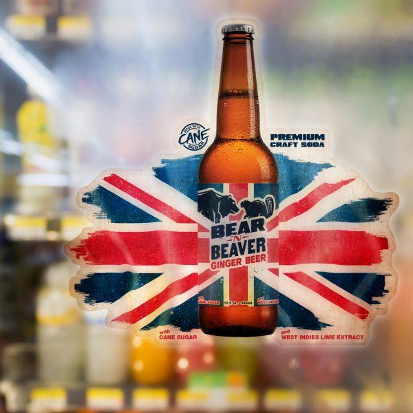 Bear 'n Beaver point of sale sticker design.