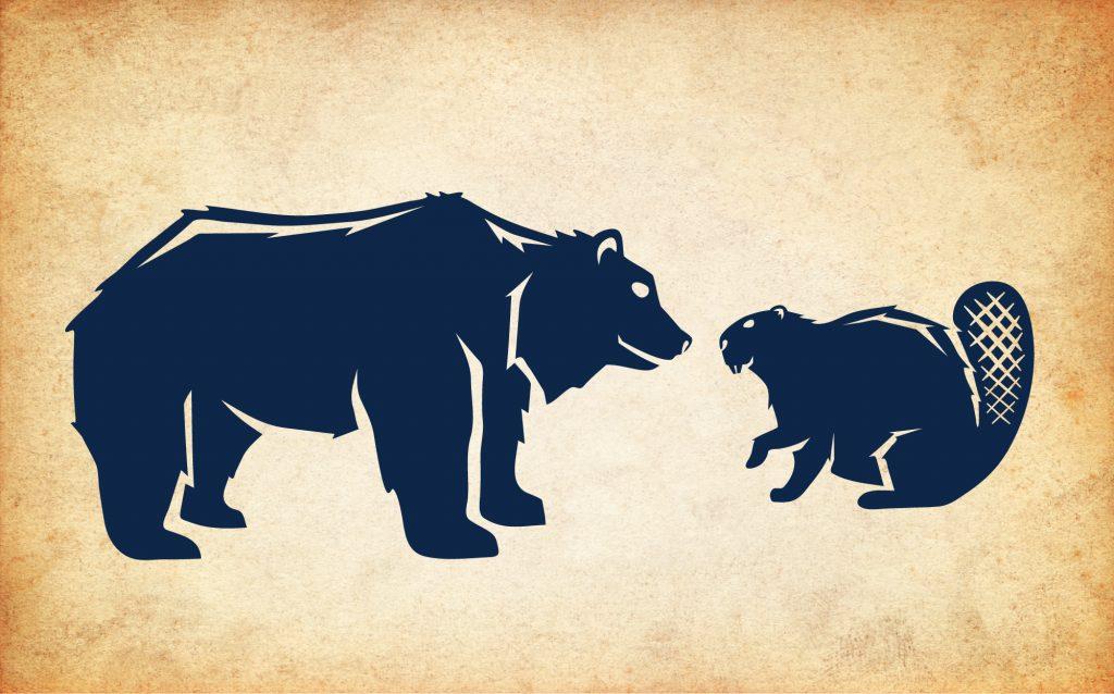 Bear 'n Beaver animal logos
