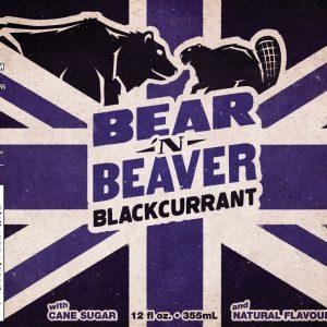Bear 'n Beaver Blackcurrant label