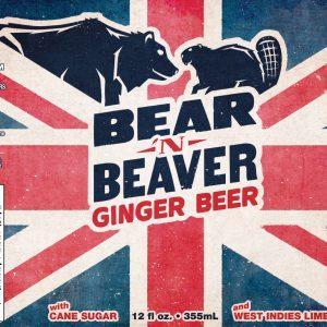 Bear 'n Beaver Ginger Beer label