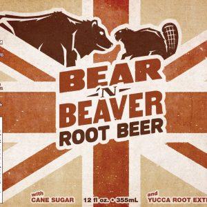 Bear 'n Beaver Root Beer label