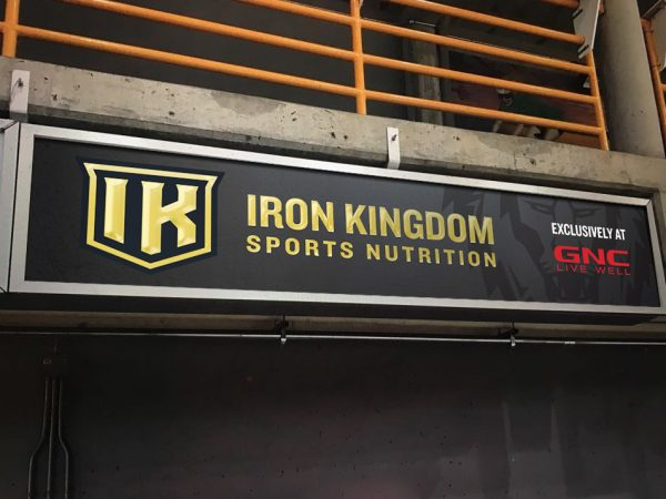 Iron Kingdom hockey rink sign